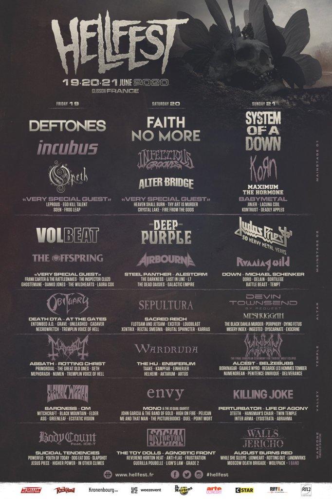 affiche du hellfest 2020